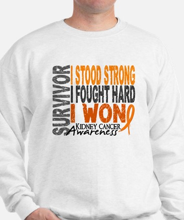 Survivor 4 Kidney Cancer Shirts and Gifts Sweatshi
