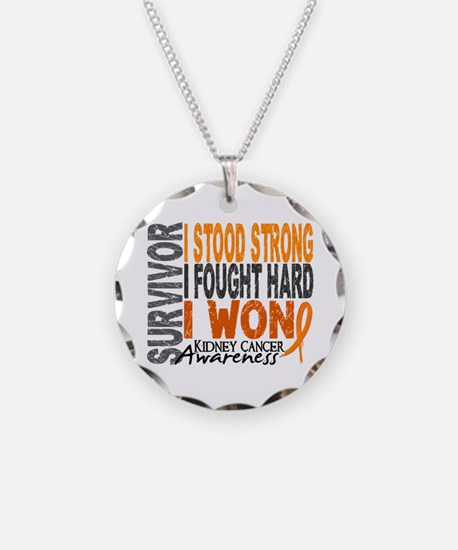 Survivor 4 Kidney Cancer Shirts and Gifts Necklace