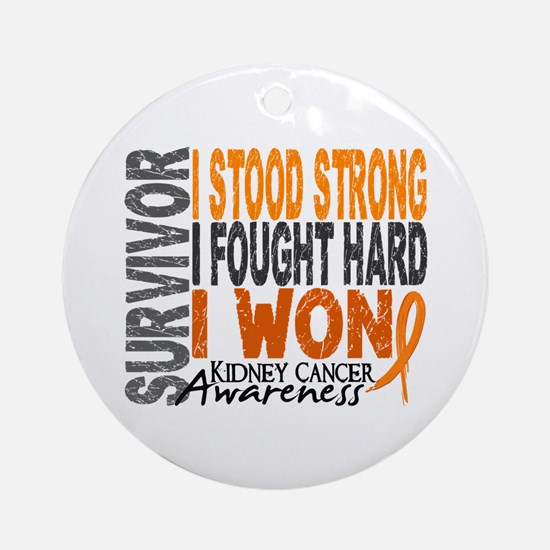 Survivor 4 Kidney Cancer Shirts and Gifts Ornament