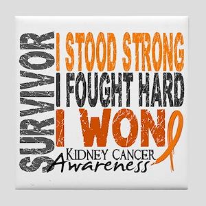 Survivor 4 Kidney Cancer Shirts and Gifts Tile Coa