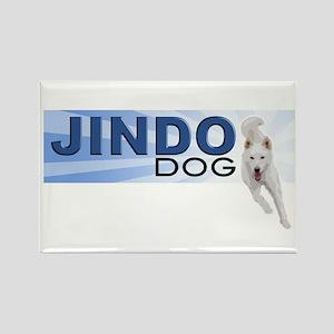 Jindo run Rectangle Magnet