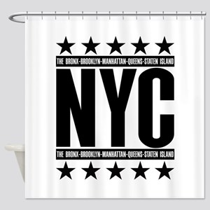 NYC Boroughs Shower Curtain
