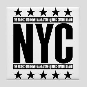 NYC Boroughs Tile Coaster