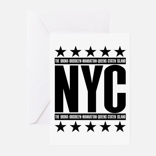 NYC Boroughs Greeting Cards (Pk of 10)