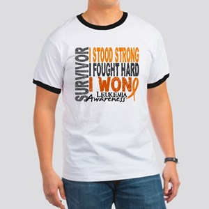 Survivor 4 Leukemia Shirts and Gifts Ringer T