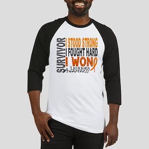 Survivor 4 Leukemia Shirts and Gifts Baseball Jers