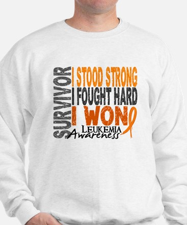 Survivor 4 Leukemia Shirts and Gifts Sweatshirt
