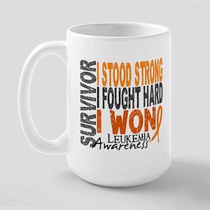 Survivor 4 Leukemia Shirts and Gifts Large Mug