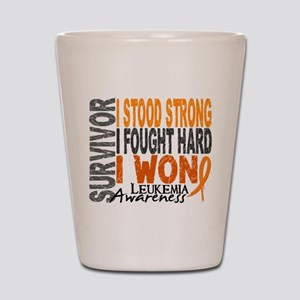Survivor 4 Leukemia Shirts and Gifts Shot Glass