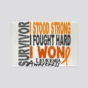 Survivor 4 Leukemia Shirts and Gifts Rectangle Mag