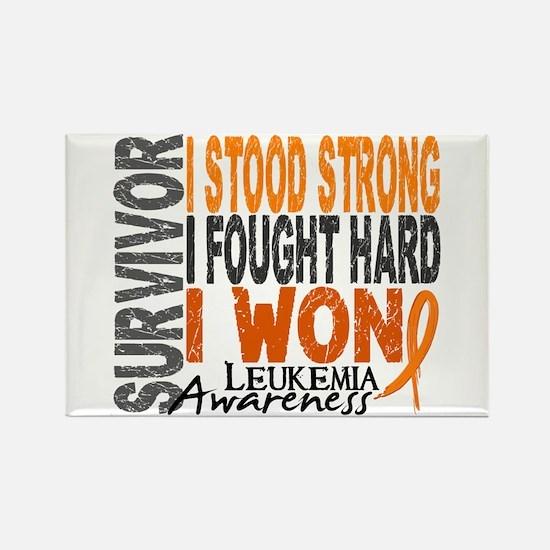 Survivor 4 Leukemia Shirts and Gifts Rectangle Mag