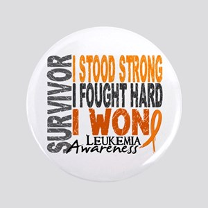 "Survivor 4 Leukemia Shirts and Gifts 3.5"" Button"