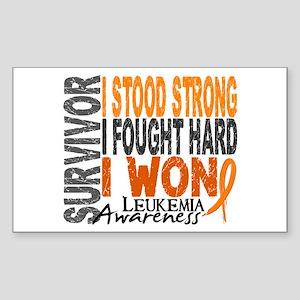 Survivor 4 Leukemia Shirts and Gifts Sticker (Rect