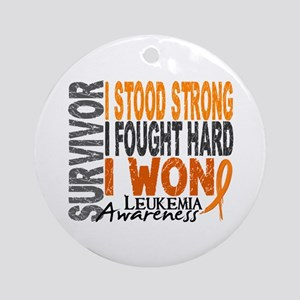 Survivor 4 Leukemia Shirts and Gifts Ornament (Rou