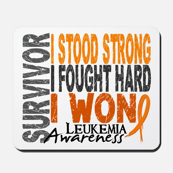 Survivor 4 Leukemia Shirts and Gifts Mousepad