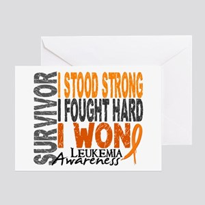 Survivor 4 Leukemia Shirts and Gifts Greeting Card