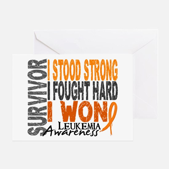 Survivor 4 Leukemia Shirts and Gifts Greeting Card