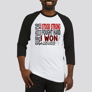 Survivor 4 Lung Cancer Shirts and Gifts Baseball J