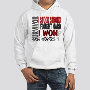 Survivor 4 Lung Cancer Shirts and Gifts Hooded Swe
