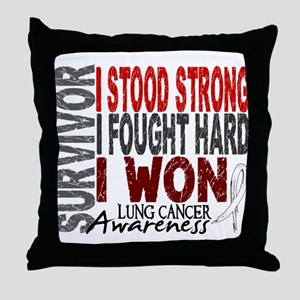 Survivor 4 Lung Cancer Shirts and Gifts Throw Pill