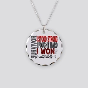 Survivor 4 Lung Cancer Shirts and Gifts Necklace C