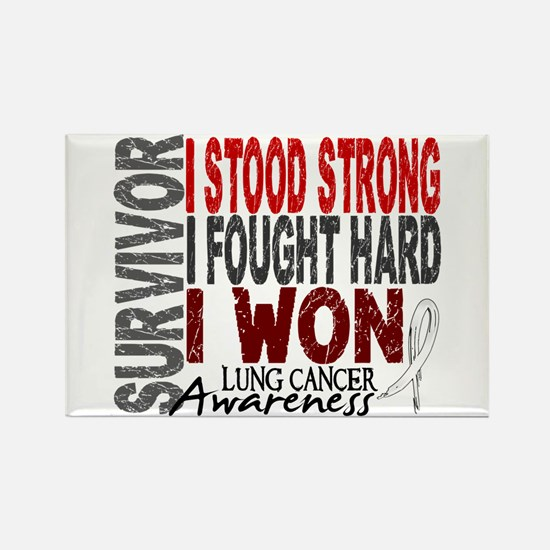 Survivor 4 Lung Cancer Shirts and Gifts Rectangle