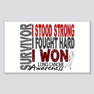 Survivor 4 Lung Cancer Shirts and Gifts Sticker (R