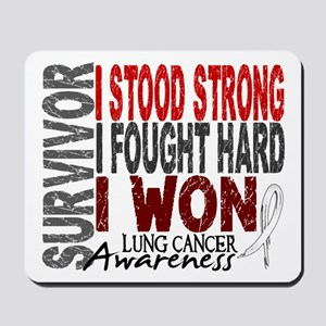 Survivor 4 Lung Cancer Shirts and Gifts Mousepad