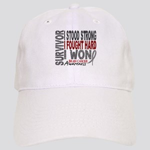 Survivor 4 Brain Cancer Shirts and Gifts Cap