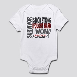 Survivor 4 Brain Cancer Shirts and Gifts Infant Bo