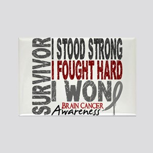 Survivor 4 Brain Cancer Shirts and Gifts Rectangle