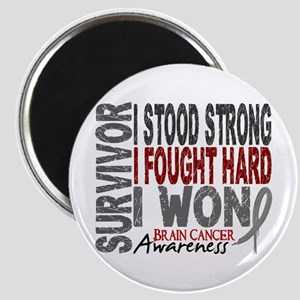 Survivor 4 Brain Cancer Shirts and Gifts Magnet