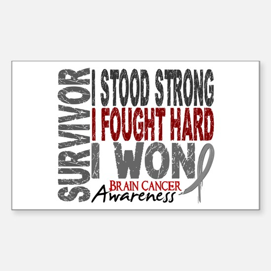 Survivor 4 Brain Cancer Shirts and Gifts Decal