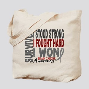 Survivor 4 Brain Cancer Shirts and Gifts Tote Bag