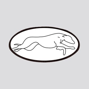 Greyhound Outline multi color Patches