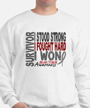 Survivor 4 Brain Tumor Shirts and Gifts Sweatshirt
