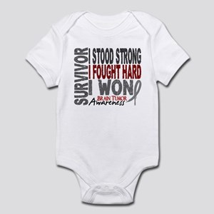 Survivor 4 Brain Tumor Shirts and Gifts Infant Bod
