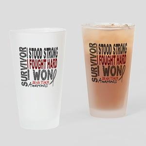 Survivor 4 Brain Tumor Shirts and Gifts Drinking G