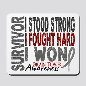 Survivor 4 Brain Tumor Shirts and Gifts Mousepad