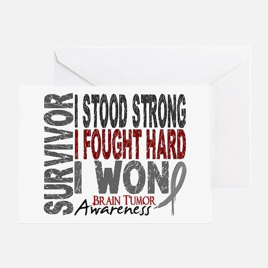Survivor 4 Brain Tumor Shirts and Gifts Greeting C
