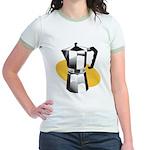 Pop Art - 'Coffee Pot' Jr. Ringer T-Shirt