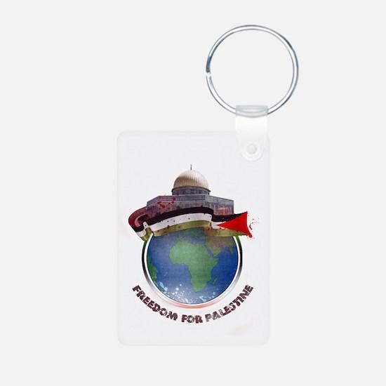 Palestine flag globe Keychains