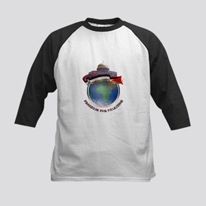 Palestine flag globe Kids Baseball Jersey