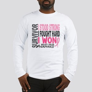 Survivor 4 Breast Cancer Shirts and Gifts Long Sle