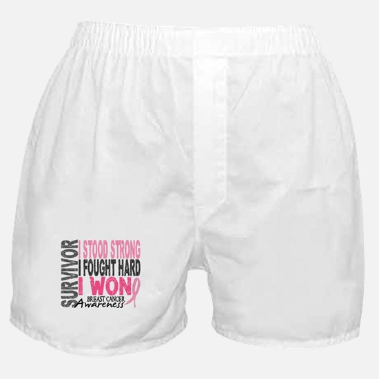 Survivor 4 Breast Cancer Shirts and Gifts Boxer Sh