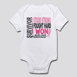 Survivor 4 Breast Cancer Shirts and Gifts Infant B