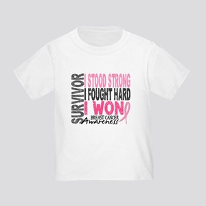 Survivor 4 Breast Cancer Shirts and Gifts Toddler