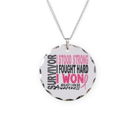 Survivor 4 Breast Cancer Shirts and Gifts Necklace