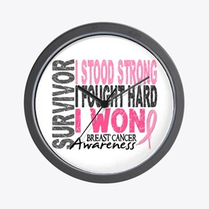 Survivor 4 Breast Cancer Shirts and Gifts Wall Clo