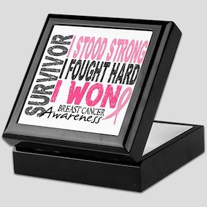 Survivor 4 Breast Cancer Shirts and Gifts Keepsake